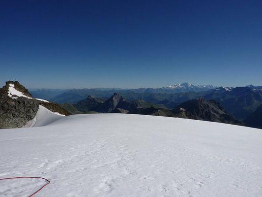 """mont  blanc vue du glacier """"peclet poslet"""""""