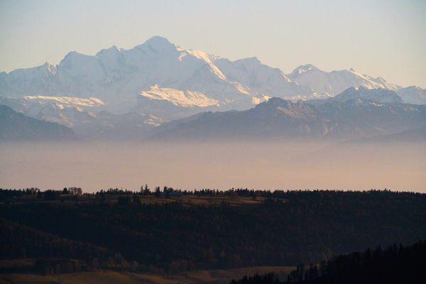 Mont Blanc vue du mont d'or