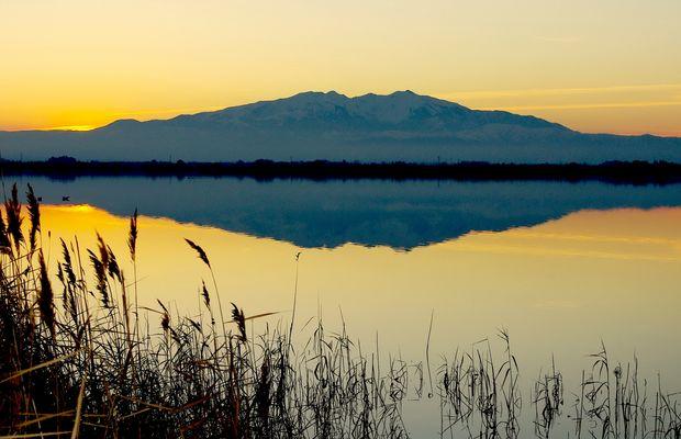 Mont Canigou depuis les étangs