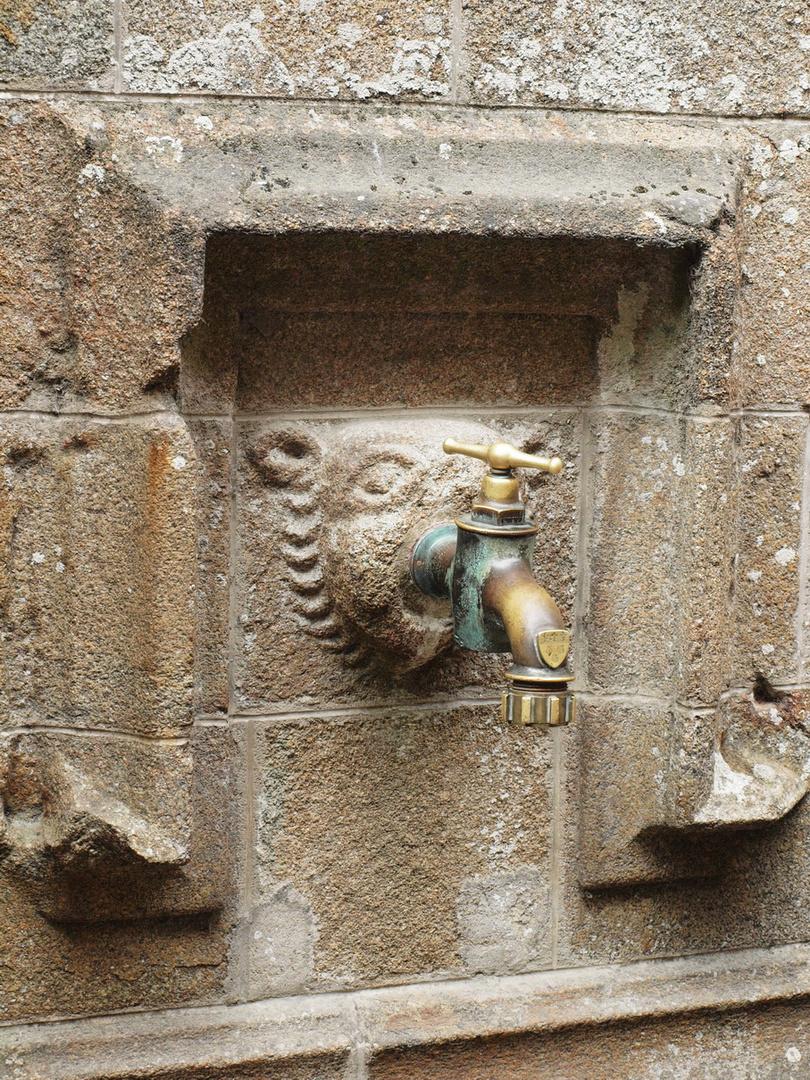 Mont-Saint-Michel - ein Wasserhahn