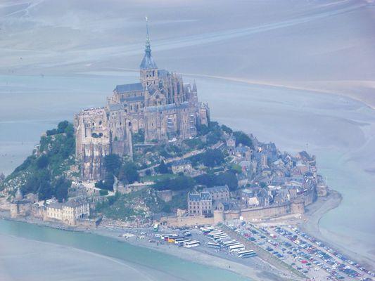 Mont st Michel vue d'avion.