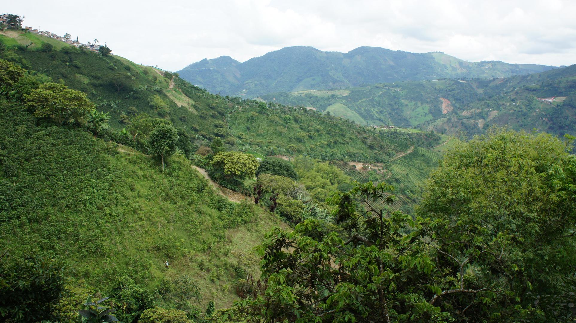 Montañas de Santuario Risaralda, Colombia