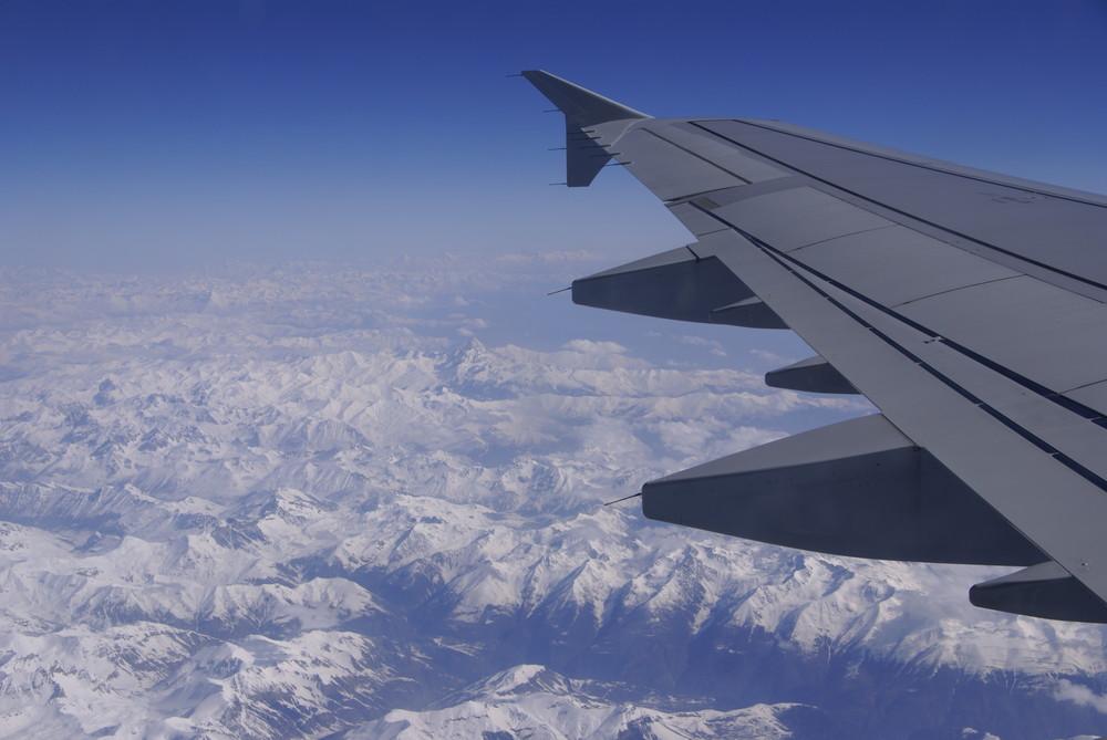 Montagne vue d'avion