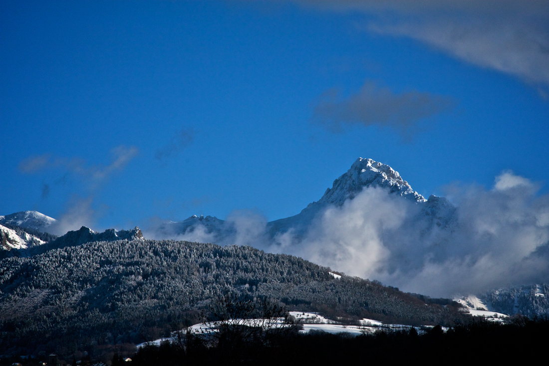 Montagnes du pays de Gavot au dessus d'Evian les Bains
