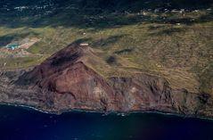 Montana de Azufre an der Südost-Küste La Palmas