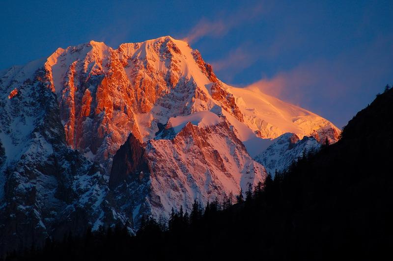 Monte Bianco all'alba