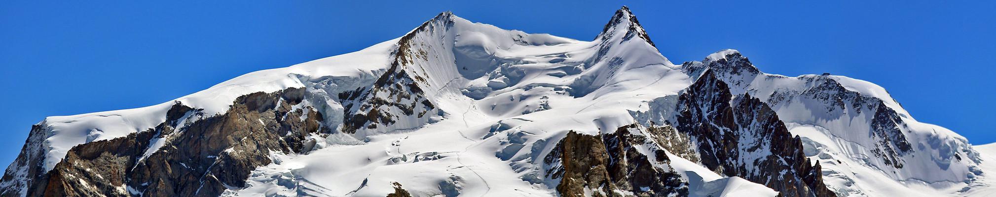 Monte-Rosa-weihnachtspano vom Gipfelbereich des mächtigsten Alpenberges neu gestitcht, ...