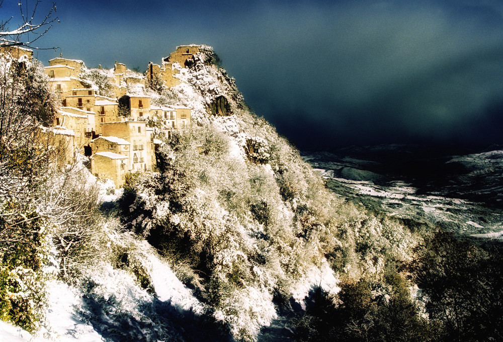 Montebello sul Sangro ( ch ) - Sotto la neve