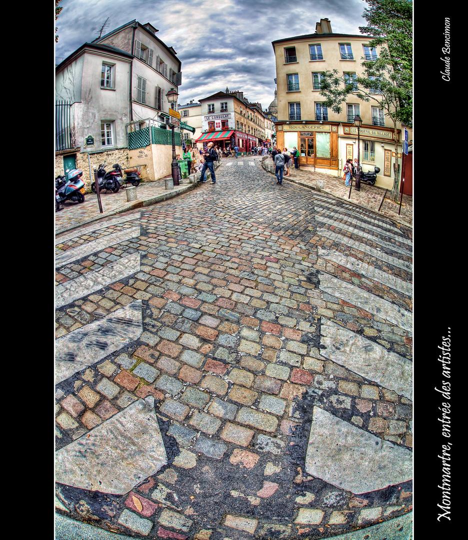 Montmartre, entrée des artistes...
