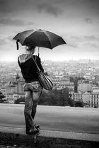 Montmartre sous la pluie