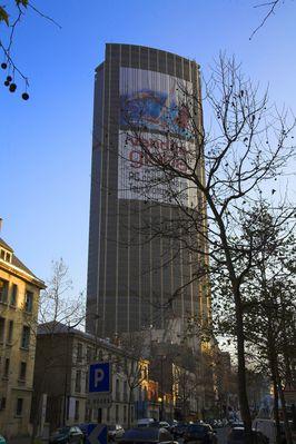 Montparnasse Hochhaus Anfang Januar 09