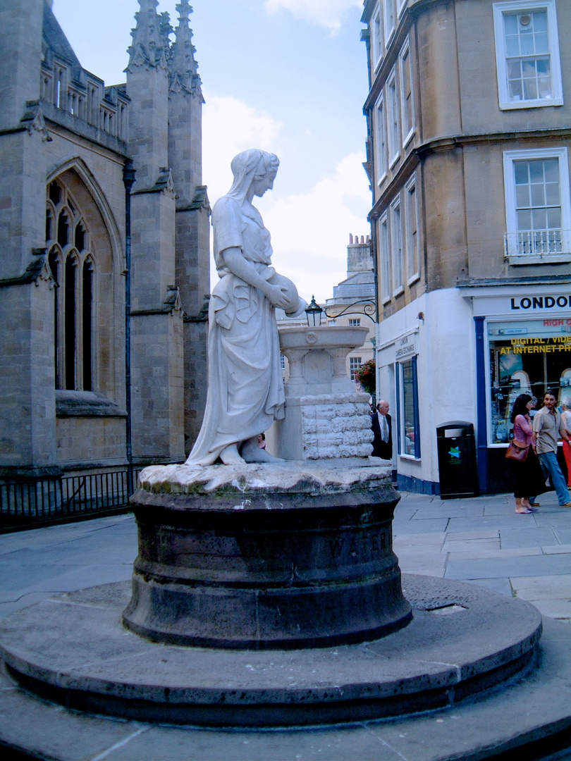 Monument in Front of Bath Abbey