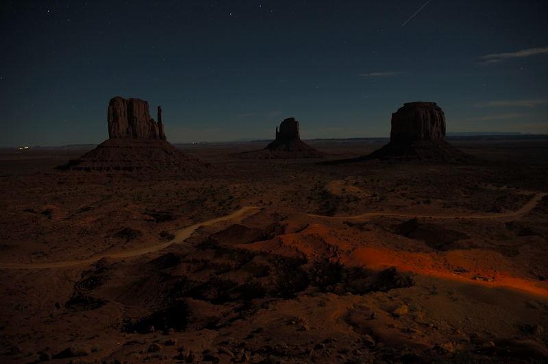 Monument Valley bei Nacht
