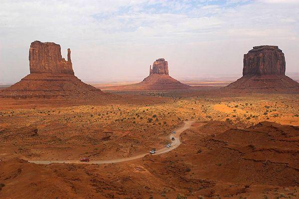 Monument Valley bei Sandsturm