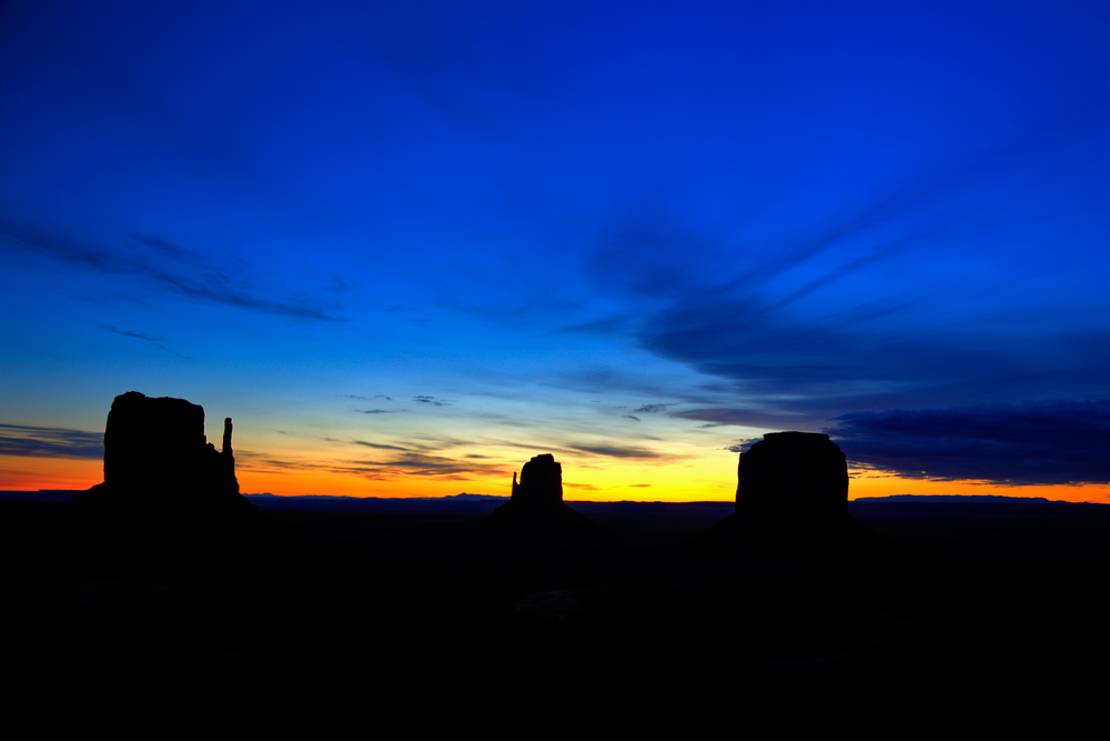 Monument Valley bei Sonnenaufgang