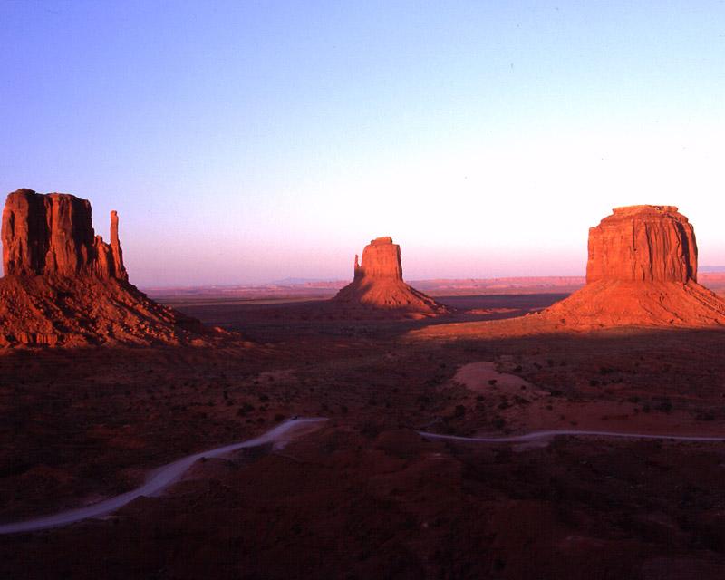 Monument Valley bei Sonnenuntergang
