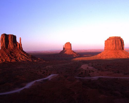 Monument Valley bei Sonnenuntergang