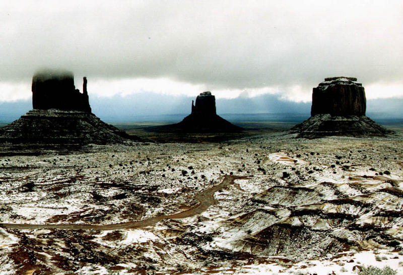 Monument Valley im Schnee