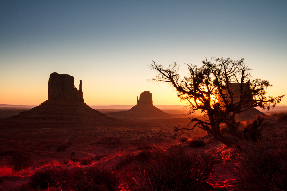 Monument Valley: Sonnenaufgang