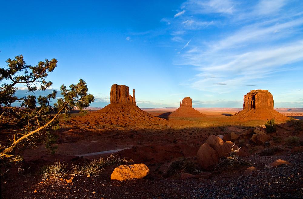 Monument Valley vor Sonnenuntergang