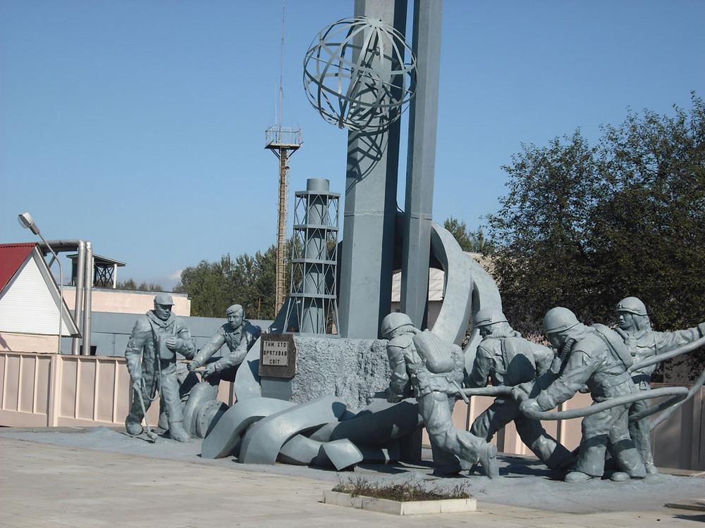 Monumento a los bomberos muertos.