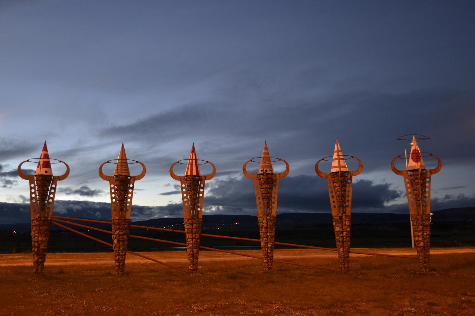 Monumento etnias Punta Arenas - Chile