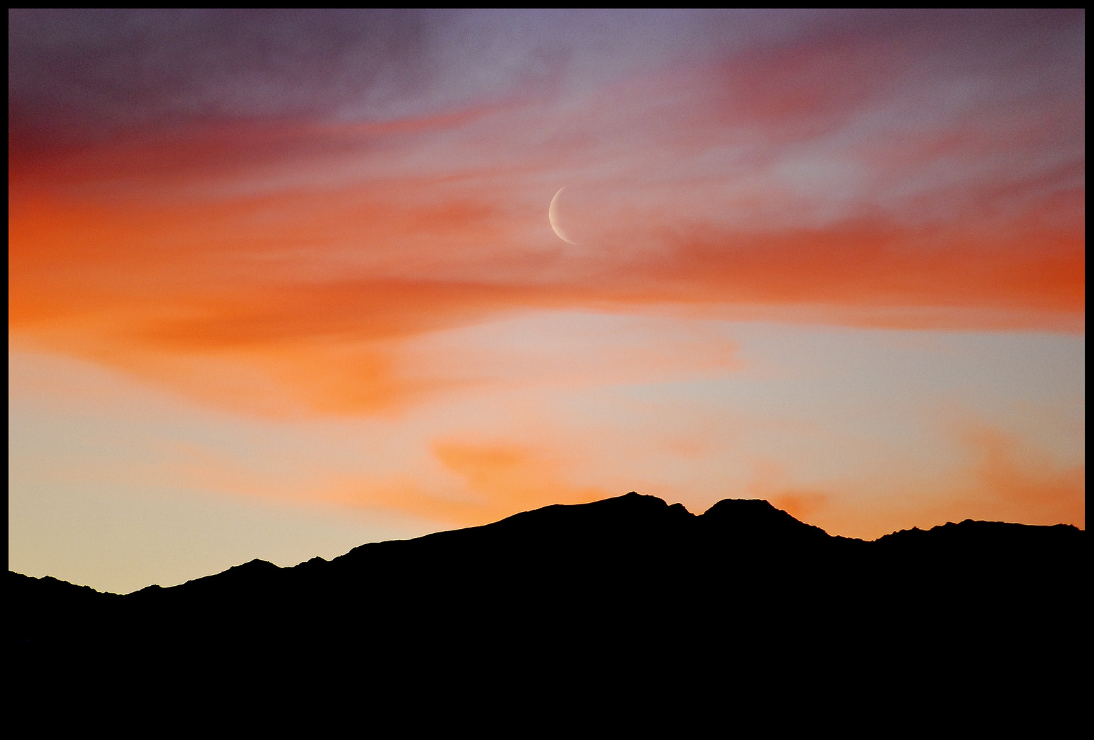 moon in sunset