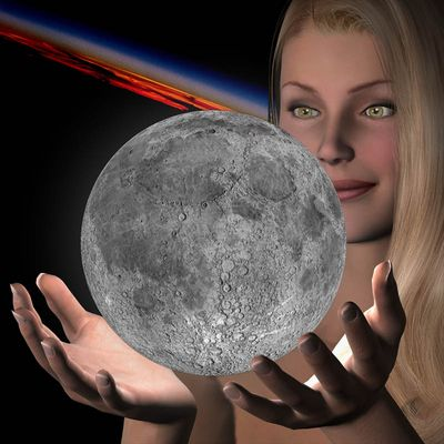 moon in your hands