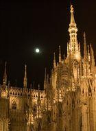Moon Over Duomo, Milan