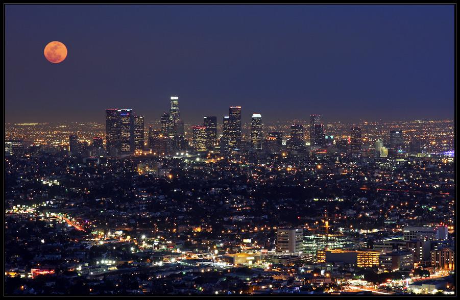 Moon over L.A.