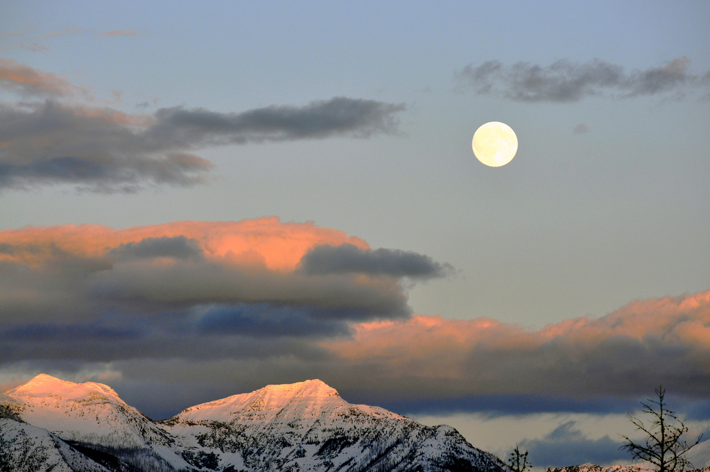 moon over rockies
