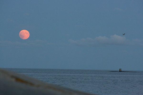 Moon over Skagerrak