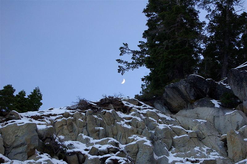 Moon over Tahoe