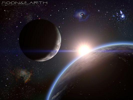 Moon&Earth