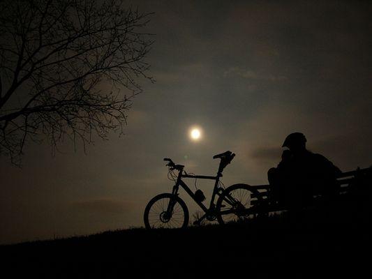 moonlight biking