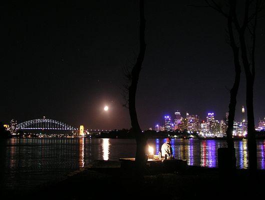 Moonlight Fishing in Sydney