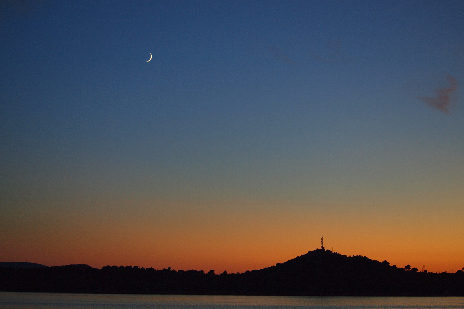 Moonraise and Sunset