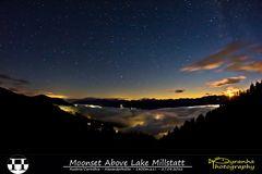 Moonset Above Lake Millstatt