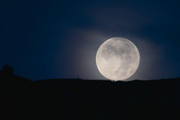 Moonset Switzerland