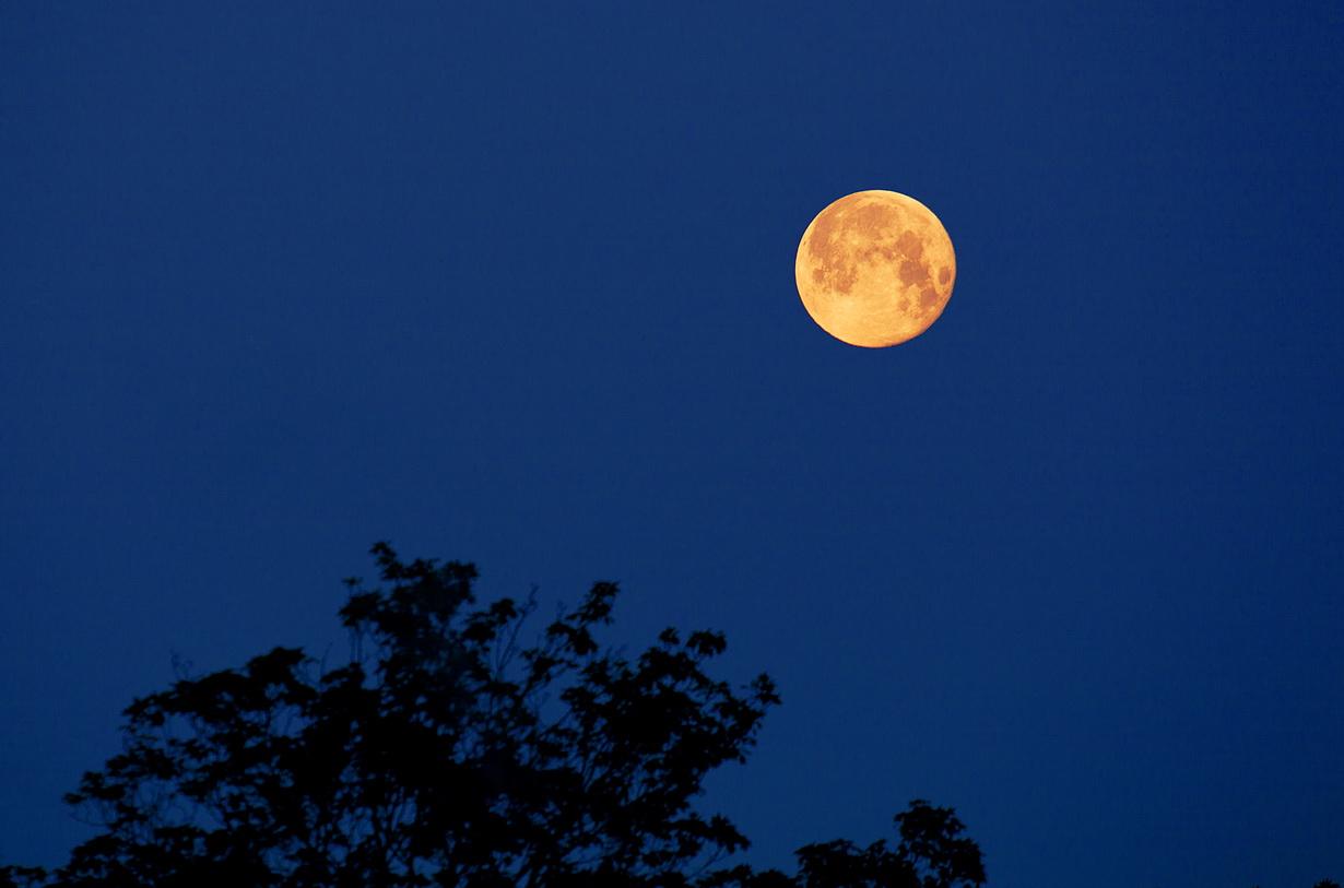 Moonsetting - friedlich, nach einer langen Nachtreise