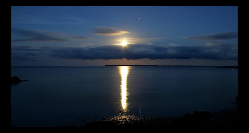 Moonshine at midnight