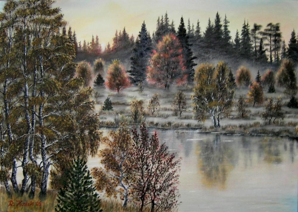 """Moorlandschaft beim Sonnenaufgang"""