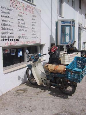 Moped des Dorffischers