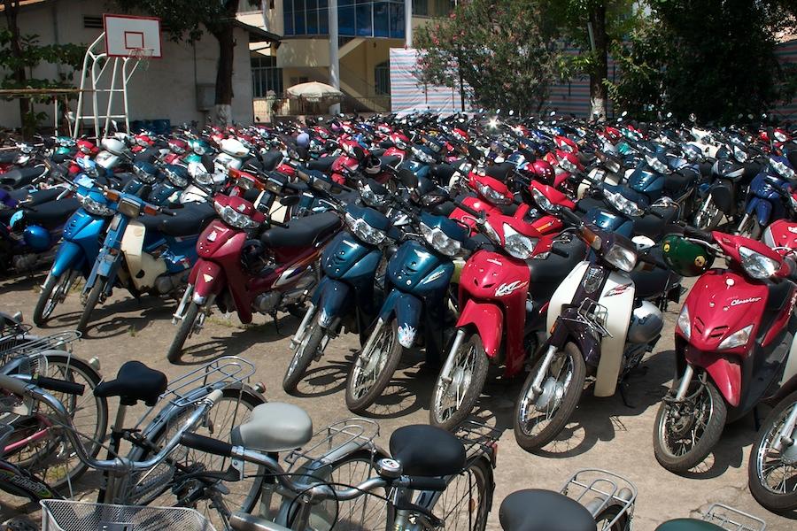 Moped-Parkplatz in Saigon
