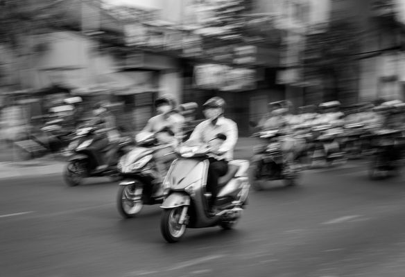 Mopeds in Saigon