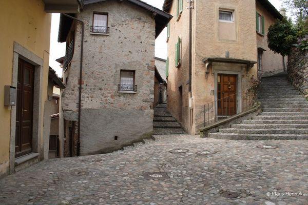 Morcote im Tessin am Lugano See