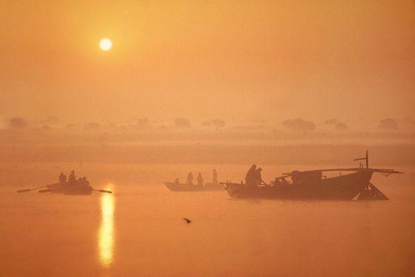 Morgen am Ganges