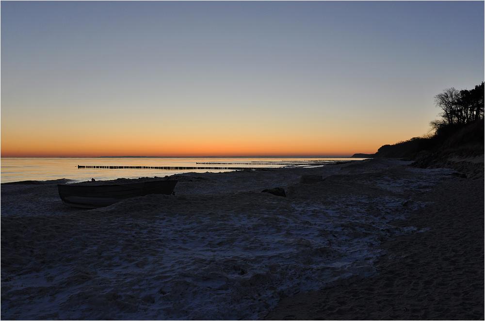 Morgen am Strand von Kölpinsee