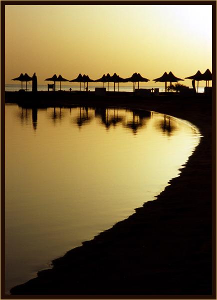 morgen an der lagune