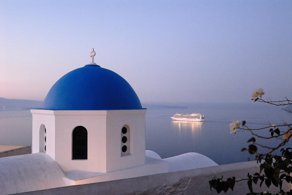 Morgen auf Santorini
